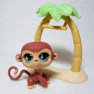 Littlest Pet Shop # 655 MONKEY Rare Sportiest Pets w Realistic Eyes & Swinging Tree