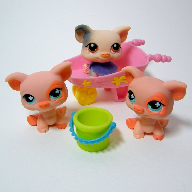 Littlest Pet Shop # 259 PIG - RARE Target Exclusive and 2x 622 Pig Funniest Pets