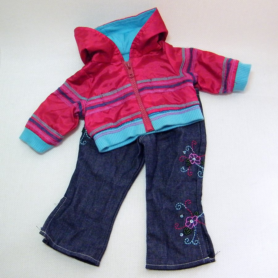 """American Girl READY FOR FUN Windbreaker Jacket and Jeans for 18"""" Dolls"""