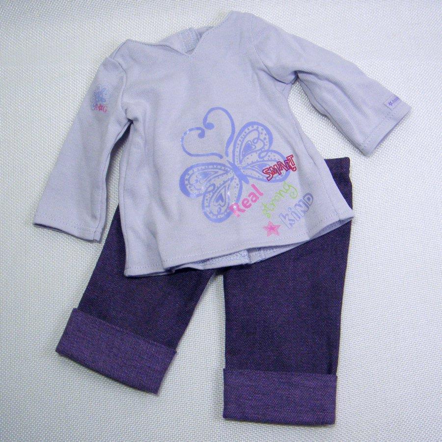 "American Girl REAL ME Shirt and Purple Denim Pants for 18"" Dolls"