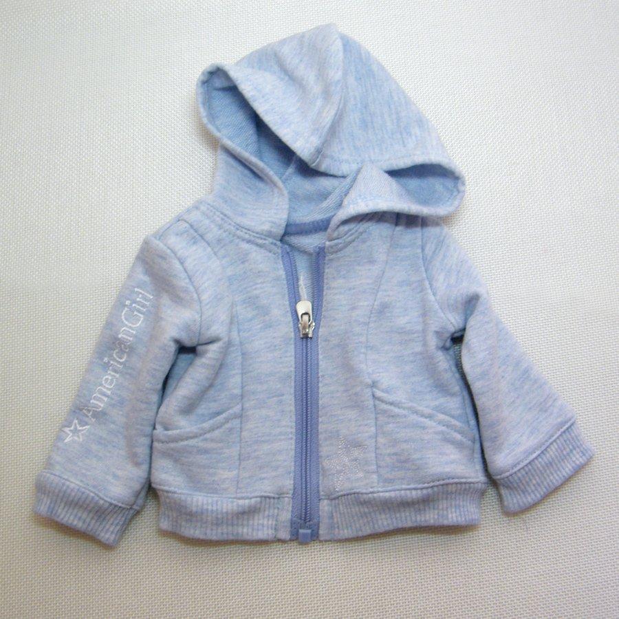 "American Girl STARRY LOGO HOODIE Zippered Sweatshirt for 18"" Dolls"