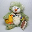 Ganz Cottage SPRING Mint Green & Cream Bear Collectible Four Seasons CC11117