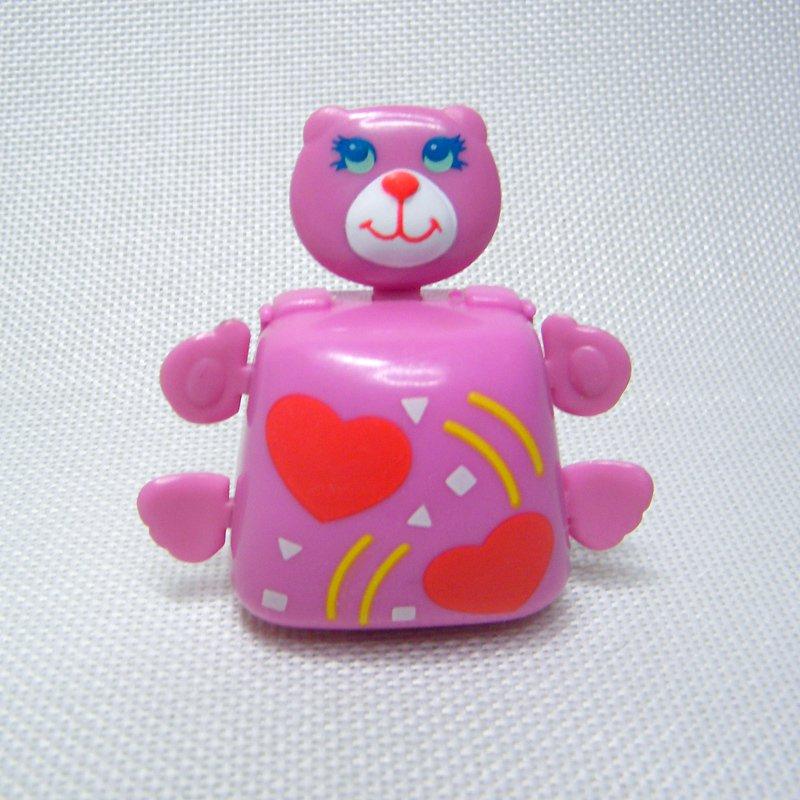 Vintage Sweet Secrets PINK BEAR Compact Hearts w Pink Blush Shadow Galoob