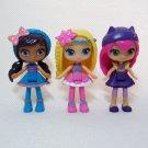 "Little Charmers 3"" Dolls LAVENDER, HAZEL & POSIE Spin Master"