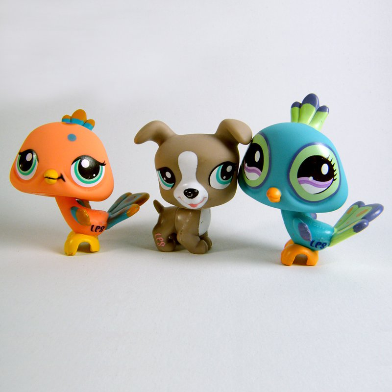 Littlest Pet Shop # 1463 JACK RUSSELL 1462 PEACHY PEACOCK 869 BIS PEACOCK Rare!