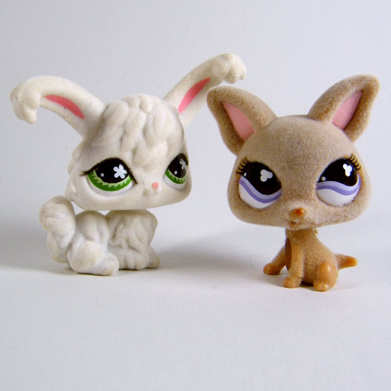 Littlest Pet Shop # 461 CHICHUAHUA & # 515 Fuzzy ANGORA Rabbit 2007
