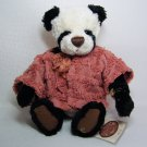 Ganz Cottage PATTY CAKE Plush Panda Bear with Dusky Rose Jacket CC11058
