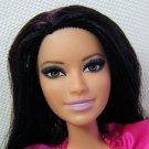 Barbie Fashionistas RAQUELLE Articulated Pink Ruffle Shirt & Silver Glitter