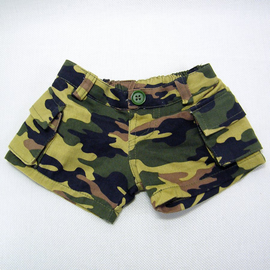 Build A Bear Military CARGO SHORTS BABW Tags