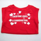 "Build A Bear Red ""EVERYONE LOVES A CANADIAN GIRL"" Sleeveless T-Shirt"