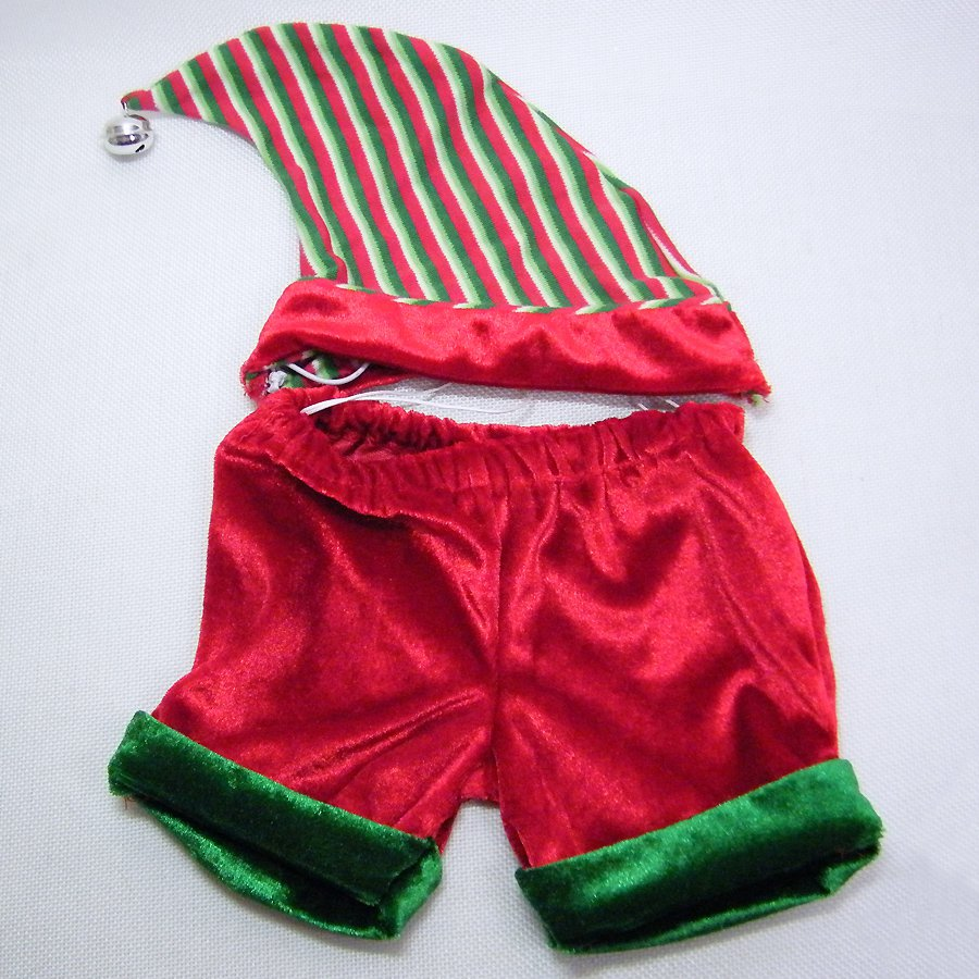 Build A Bear Velvet ELF Pants and Cap with Bell