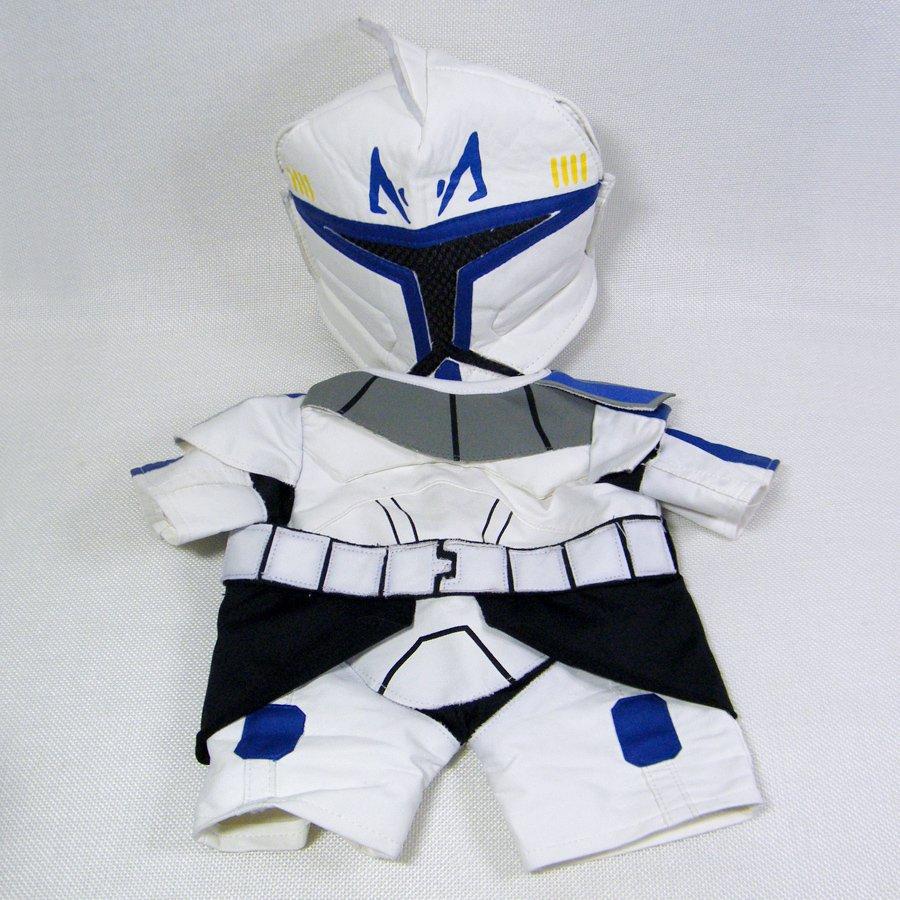 Build A Bear Star Wars Captain Rex Clone/Storm Trooper 2 Pcs Outfit Mask & Suit