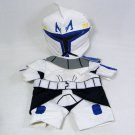 Build A Bear Star Wars Captain Rex Clone/Storm Trooper 2 Pcs Outfit Mask & Suit