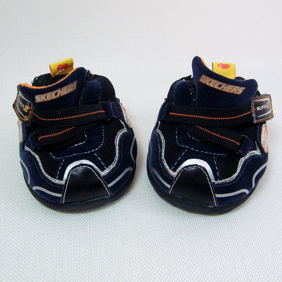 Build A Bear  SKECHERS SUPER Z Blue Suede Sneakers w Pull Tab Closures