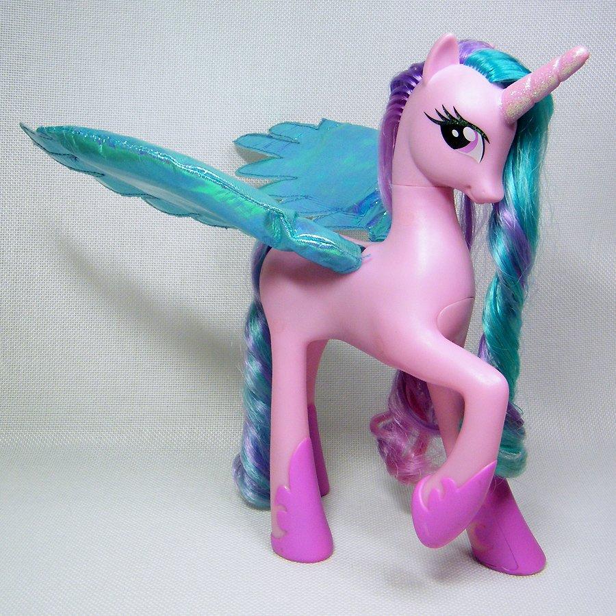 My Little Pony Talking Princess CELESTIA Pink Unicorn with Light Up Wings