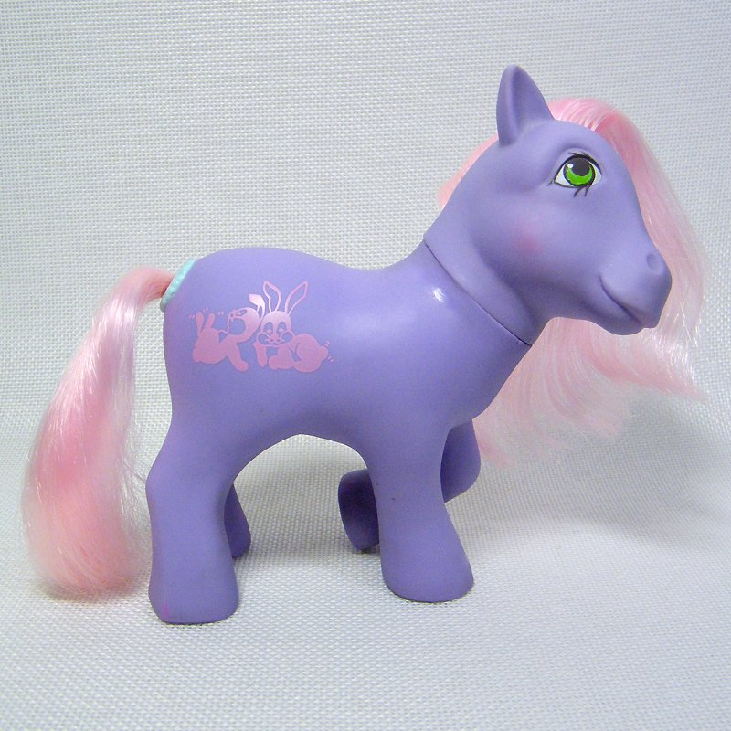 My Little Pony G1 ROMPER Happy Tails Ponies Purple Body Pink Hair Year 6