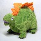 Manhattan Toy STEGOSAURUS Dinosaur Plush Green Textured Body w Orange Plates Dino