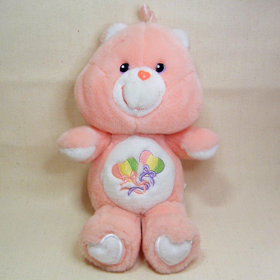 """Care Bears 13"""" DAYDREAM BEAR Plush Carlton Cards 20th Anniversary RARE Peach Pink 2003"""