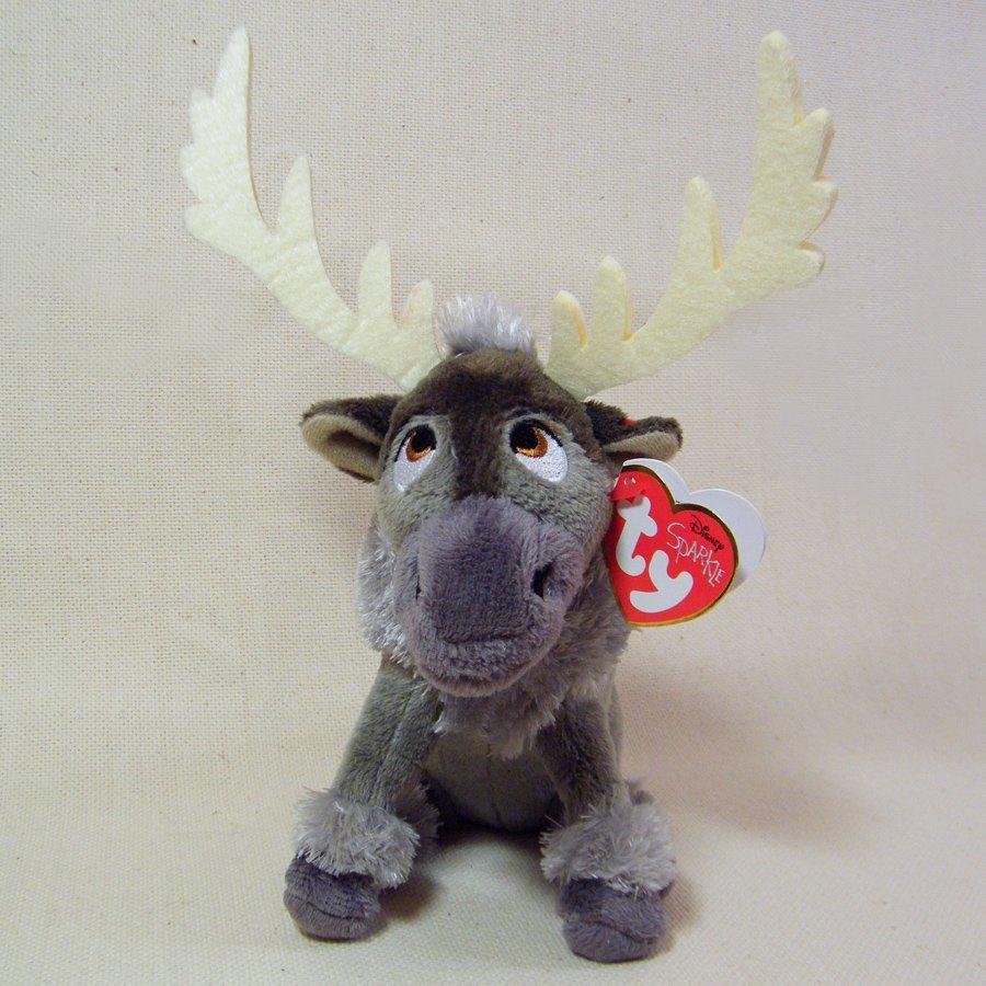 TY Disney Frozen SPARKLE SVEN the Reindeer Moose Beanie Stuffed Plush Toy NWT