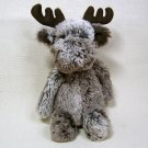 "JellyCat Bashful MARTY MOOSE Small 7"" Woodland Babe Soft Plush MM4S"