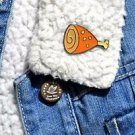 Ham enamel pin - kawaii trendy enamel ham drumstick pin badge brooch