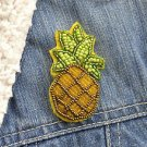 Pineapple brooch - handmade beaded pineapple tropical fruit kawaii trendy brooch