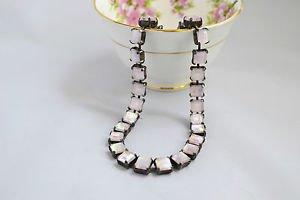 Holographic rhinestone necklace - 90s vintage grunge choker