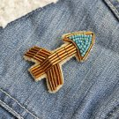 Arrow brooch - handmade beaded cute arrown kawaii trendy brooch pin