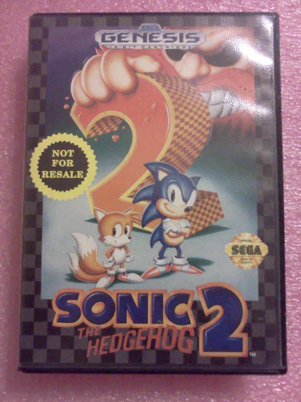 Sonic the Hedgehog 2 Sega Genesis, 1992**FREE US Shipping**