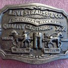 Levi Strauss & Co Belt Buckle Two horse Brand**FREE US Shipping**