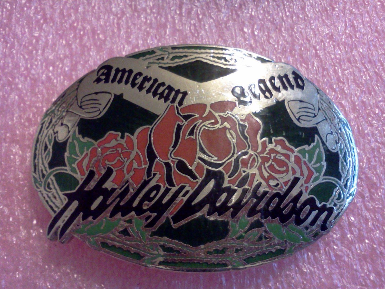 Harley Davidson Belt Buckle Rose