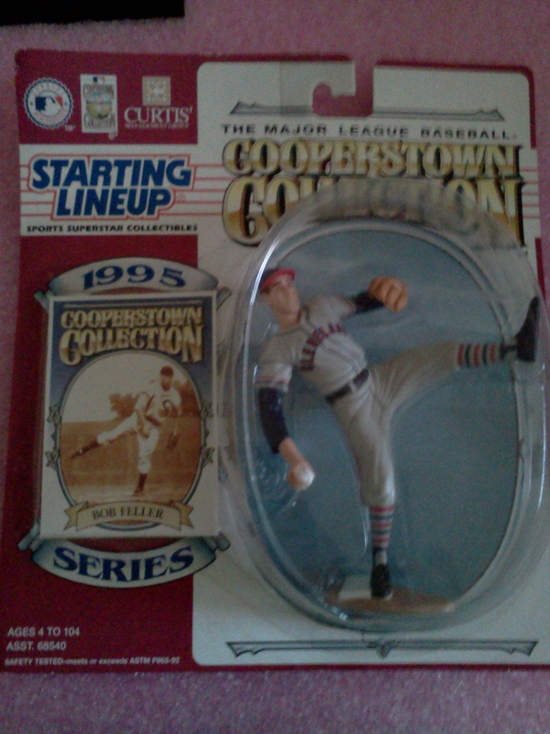 New Starting Lineup MLB Cooperstown Collection 1995 Series Bob Feller