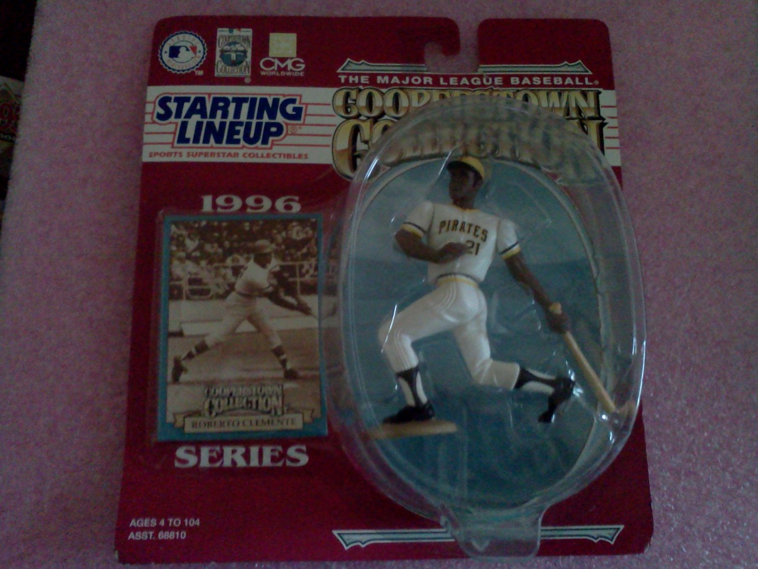 1996 Roberto Clemente Pittsburgh Pirates Cooperstown Starting Lineup SLU MLB