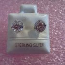 Genuine Cubic Zirconia Earrings Sterling Silver