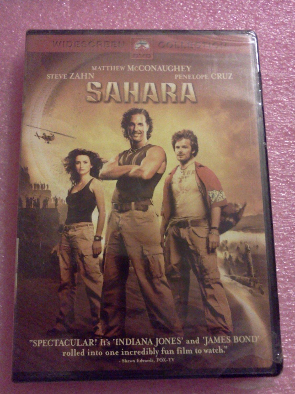 Sahara DVD - Stars: Matthew McConaughey, Penélope Cruz, Steve Zahn (2005)  NEW