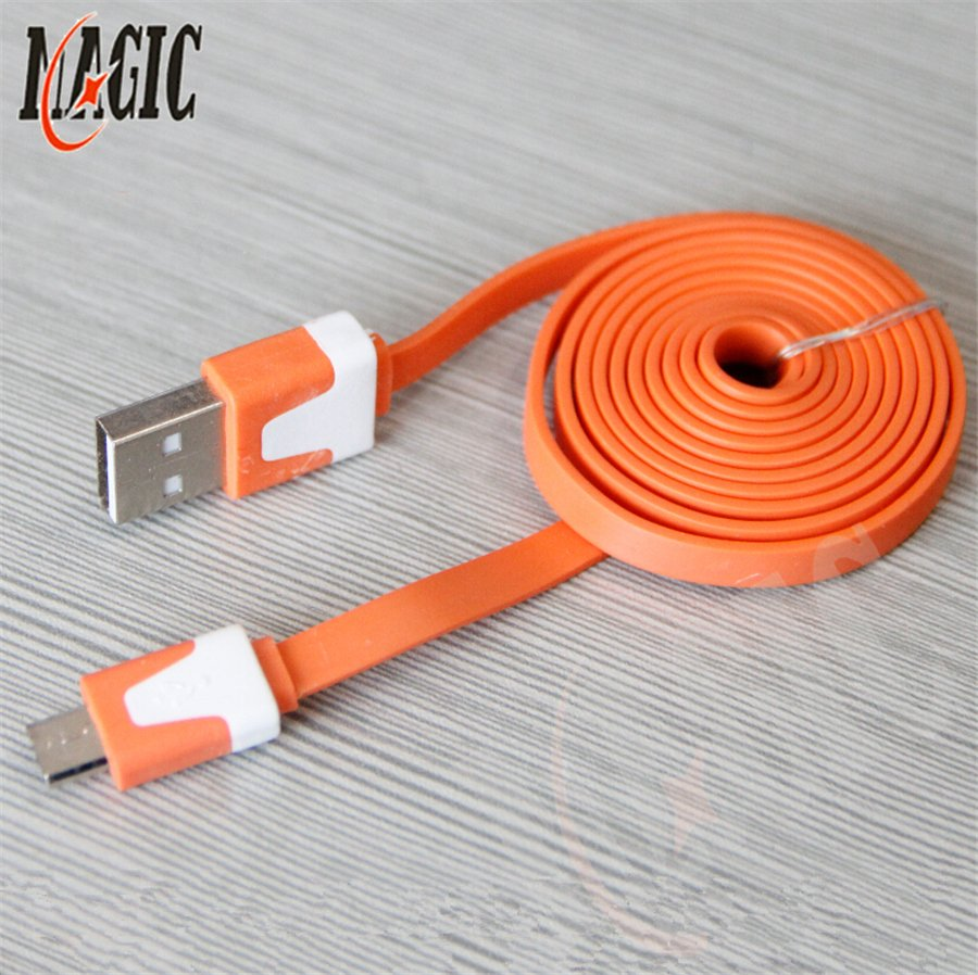 1M 3ft USB Sync Data Cable Cord Charger for samsung android phone 1pcs orange