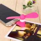 Mini Micro USB Fan Portable Travel Android Smart Phone  Pink