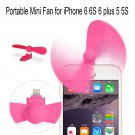 Mini USB Portable Travel Fan for iPhone 5s/6/6 plus/6s/6s plus Smart Phone Pink