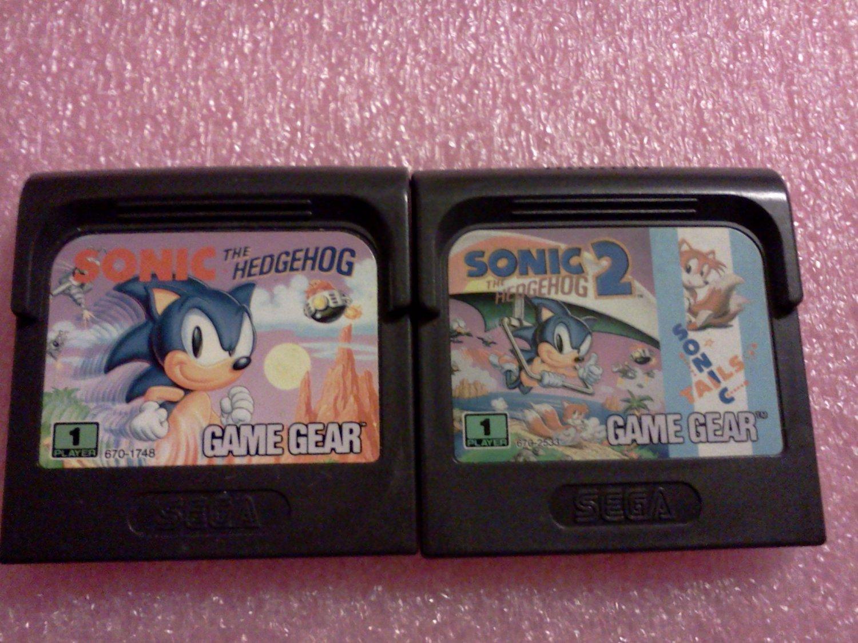 Sonic the Hedgehog (Sega Game Gear, 1991) & Sonic the Hedgehog 2 Lot Set