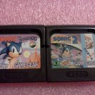 Sonic the Hedgehog (Sega Game Gear, 1991) & Sonic the Hedgehog 2 Lot Set