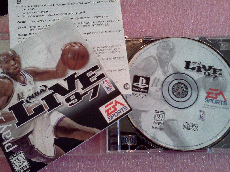 NBA Live 97 (Sony PlayStation 1, 1996) PS1