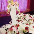 Wedding Party Princess White/Red Flowers Bridal Dresses Grows Outfit Barbie   delicias2shop