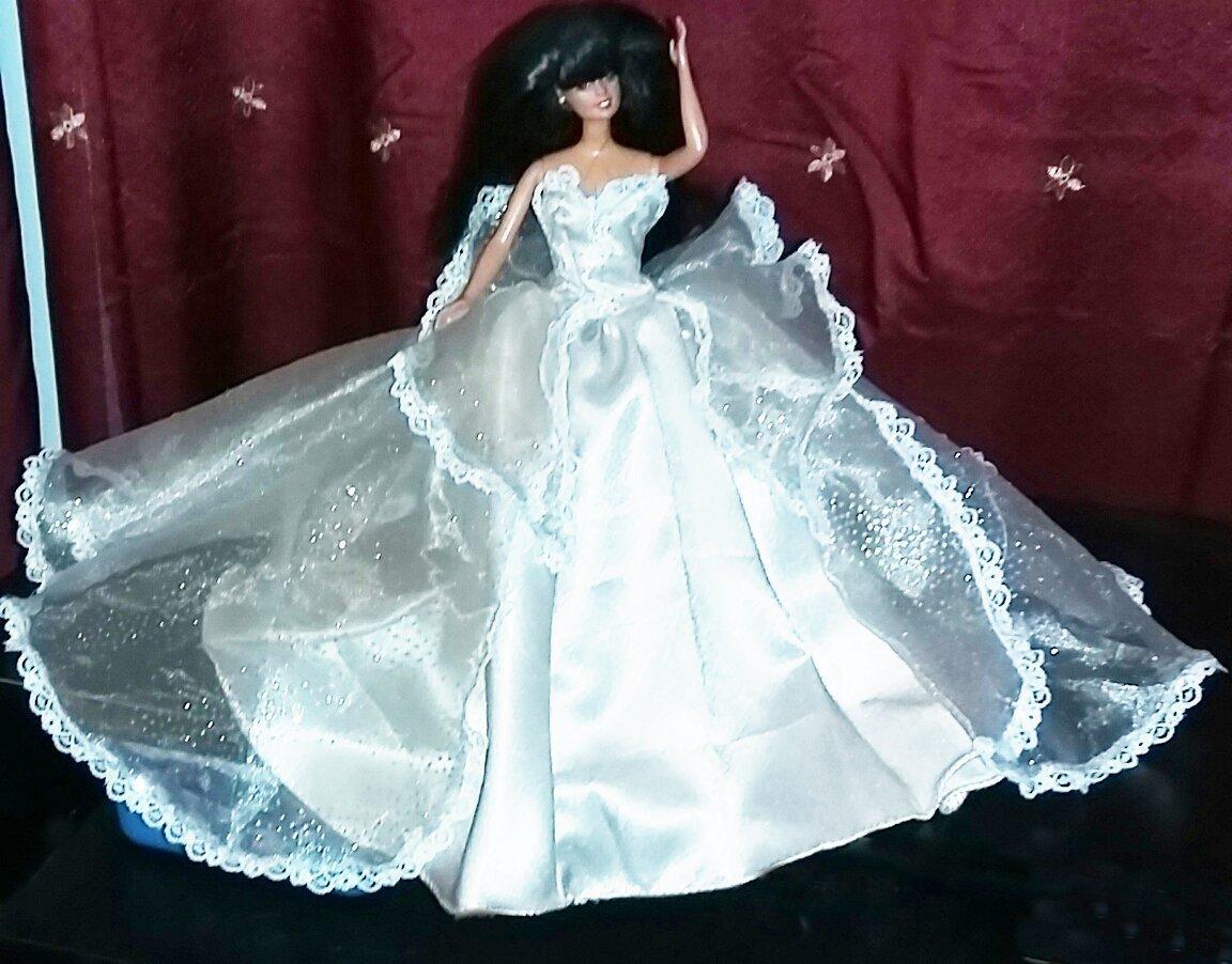 Barbie Princess Handmade Light Champangne Dress OOAK