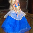 Barbie Blue Royalty Princess Party Bridal Gown Dress Girls Gift Clothes   delicias2shop