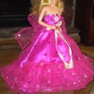 Barbie Fuchsia Royalty Princess Party Bridal Gown Dress Clothes Girls Gifts  xpress2shop