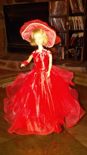 Barbie Doll Handmade Fashion Red SunShine  Party Gown Clothes Girls Gift  Dress