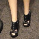 Barbie Doll Shoes Black High Heel Mattel delicias2shop