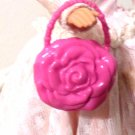 PRETTY RED FLOWER BARBIE PURSE  delicias2shop
