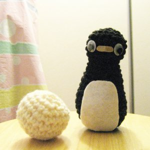 PDF Pattern- crochet penguin and snowball for bowling