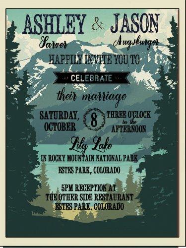 Lake Tahoe Wedding Invitation & RSVP